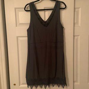 ASTR Blue/Gray Shift Dress w/ Lace Detail. Size M